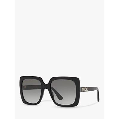 Gucci GG0418S Women s Square Sunglasses  Black Grey Gradient - 0889652171739