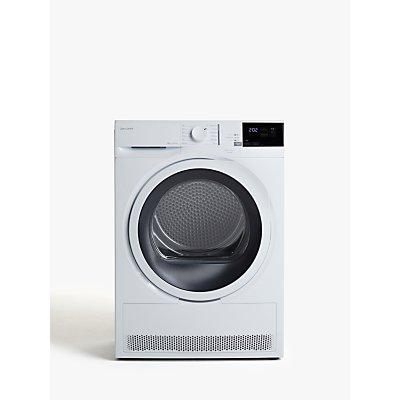 John Lewis & Partners JLTDH24 Heat Pump Freestanding Tumble Dryer, 8kg Load, A+ Energy Rating, White