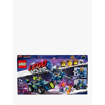 LEGO THE LEGO MOVIE 2 70826 3in1 Rex's Rex-treme Offroader Construction Toys with Minifigures