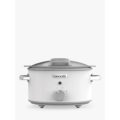 Crock-Pot CSC038 4.5L Slow Cooker, White