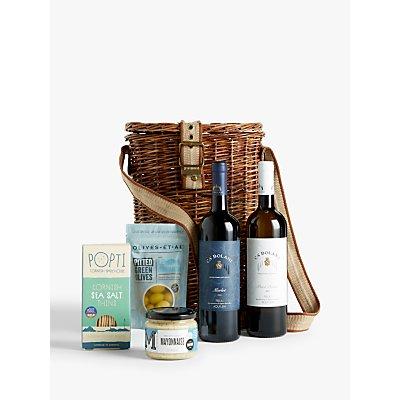 John Lewis & Partners Wine Duo & Nibbles Basket
