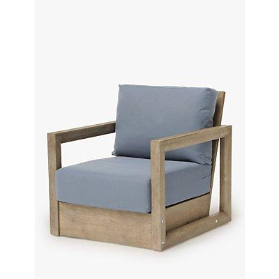 KETTLER Ezra Garden Armchair, FSC-Certified (Acacia Wood), Natural/Blue