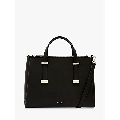 Ted Baker Judyy Large Leather Tote Bag, Black