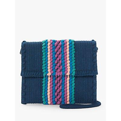 Nice Things Woven Cotton Cross Body Bag