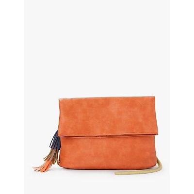 Nice Things Tassel Flap Over Cross Body Bag