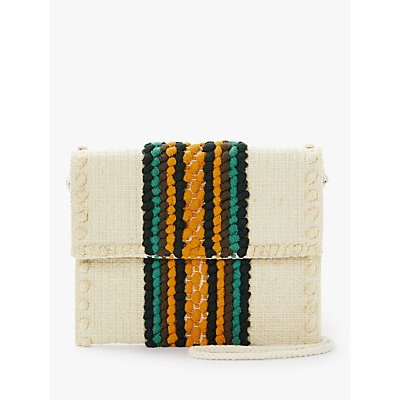Nice Things Woven Cotton Cross Body Bag
