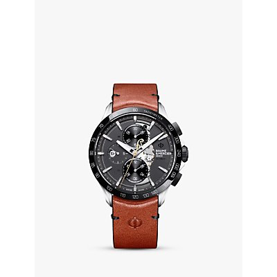 7613268921357 | Baume et Mercier M0A10402 Men s Clifton Automatic Chronograph Day Date Leather Strap Watch  Black Brown