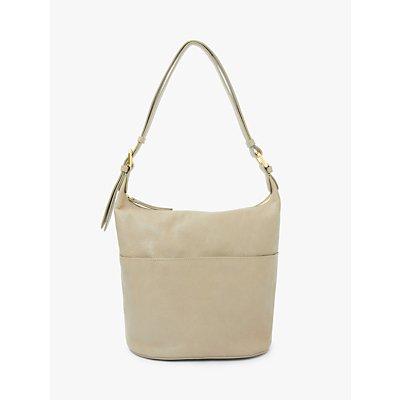 John Lewis & Partners Kepley Leather Cross Body Bag, Ecru