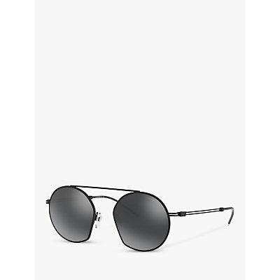 Emporio Armani EA2078 Men s Asymmetric Round Sunglasses  Black Mirror Grey - 8056597031264
