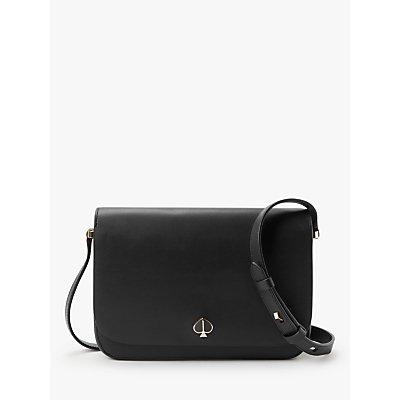 kate spade new york Nicola Medium Flap Over Leather Shoulder Bag, Black