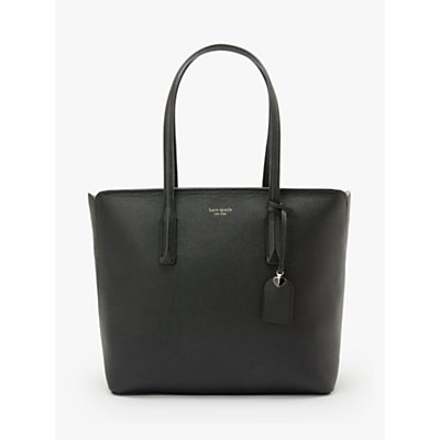 kate spade new york Margaux Large Leather Tote Bag, Black