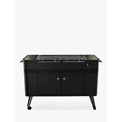 Everdure By Heston Blumenthal HUB Electric Ignition Charcoal BBQ & Cover, Black