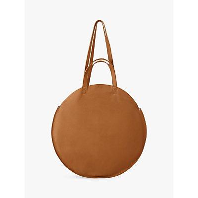hush Ines Leather Shopper Grab Bag, Tan