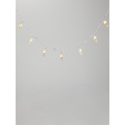 little home at John Lewis Peg Clip Line Lights  Clear - 5057618058959