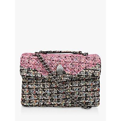 Kurt Geiger London Tweed Kensington Shoulder Bag