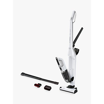 Bosch Flexxo Cordless Upright Vacuum Cleaner, White