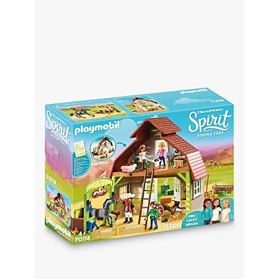 Playmobil Dreamworks Spirit Riding Free 70118 Barn with Lucky, Pru and Abigail