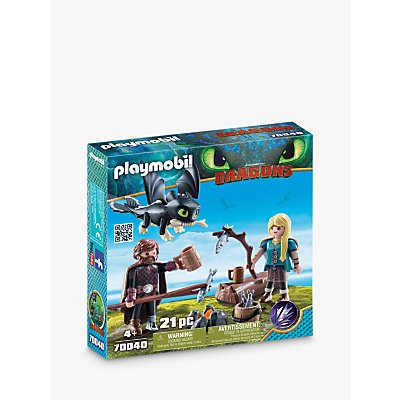 Playmobil Dragons 70040 Hiccup and Astrid with Baby Dragon Play Set