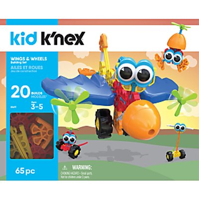 K'Nex 855619 Kid K'nex Wings and Wheels Building Set