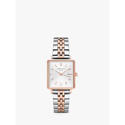 ROSEFIELD Women s Date Two Tone Bracelet Strap Watch - 8720039330535