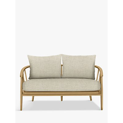 Croft Collection Frome Loveseat, Light Leg, Fleckerl Natural