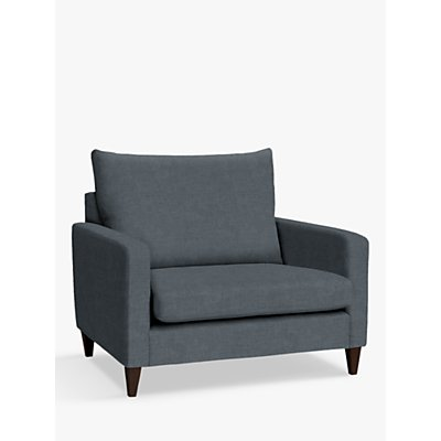 John Lewis & Partners Bailey High Back Snuggler, Dark Leg, Hatton Steel