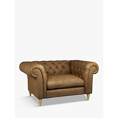 John Lewis & Partners Cromwell Leather Snuggler, Light Leg, Demetra Light Tan