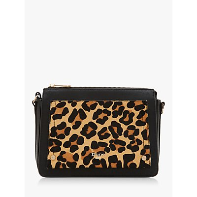 Dune Dafneyy Cross Body Bag, Black/Leopard