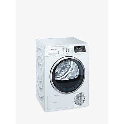 Siemens iQ300 WT45M232GB Heat Pump Tumble Dryer, 8kg Load, A++ Energy Rating, White
