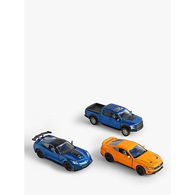 John Lewis & Partners 1:32 Die-Cast Toy Cars, Pack of 3