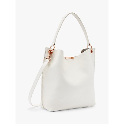 Ted Baker Candiee Leather Hobo Bag, White