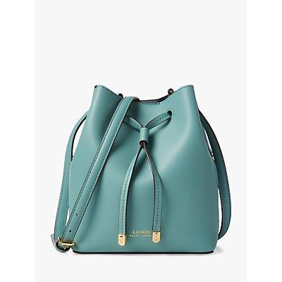Lauren Ralph Lauren Dryden Debby Leather Bucket Bag, Seafoam