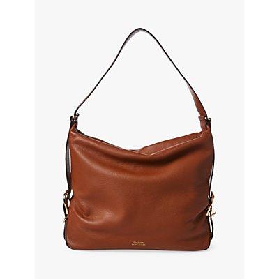 Lauren Ralph Lauren Cornwall Slouchy Leather Hobo Bag, Tan