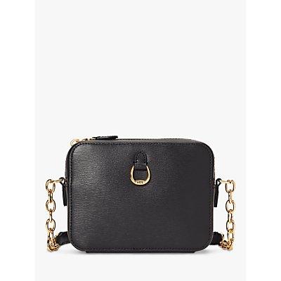 Lauren Ralph Lauren Bennington Leather Camera Cross Body Bag, Black