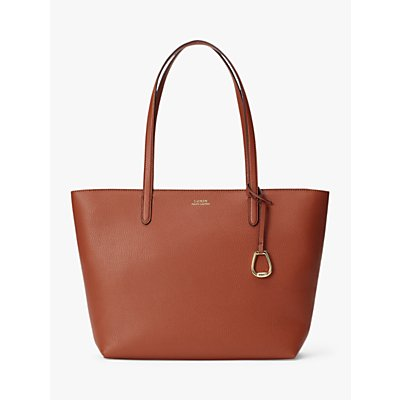 Lauren Ralph Lauren Merrimack Large Tote Bag, Tan/Orange