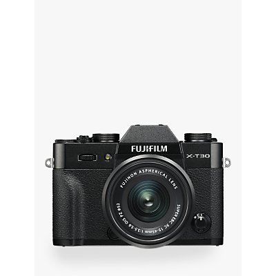 Fujifilm X-T30 Compact System Camera with XC 15-45mm OIS Lens, 4K Ultra HD, 26.1MP, Wi-Fi, OLED EVF,