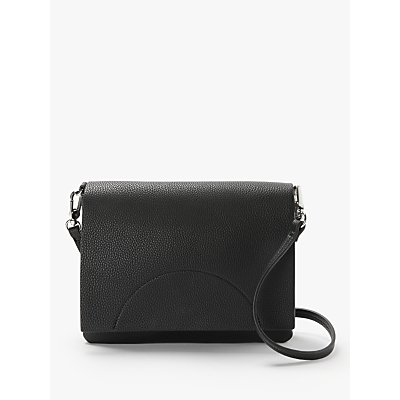 Kin Sia Flapover Cross Body Bag, Black