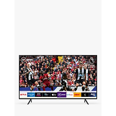 Samsung UE65RU7100 (2019) HDR 4K Ultra HD Smart TV, 65 with TVPlus, Charcoal Black