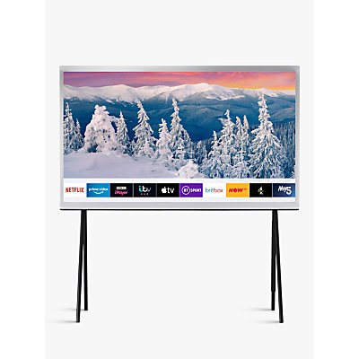Samsung The Serif (2019) QLED HDR 4K Ultra HD Smart TV, 55 with TVPlus & Bouroullec Brothers Design, White