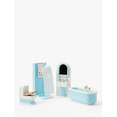 John Lewis & Partners Wooden Doll's House Bathroom Furniture