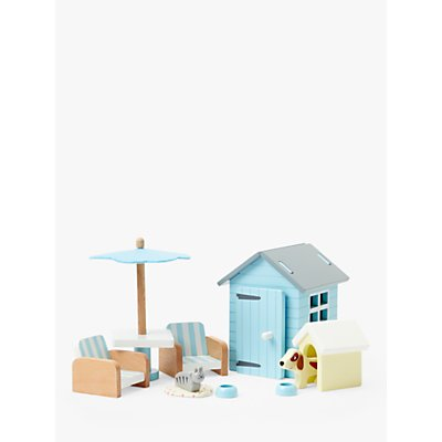 John Lewis & Partners Wooden Doll's House Garden Furniture