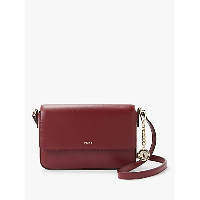 DKNY Bryant Leather Medium Flap Cross Body Bag