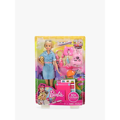 Barbie Travel Doll and Accessories Set
