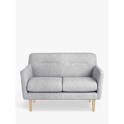 House by John Lewis Archie II Small 2 Seater Sofa, Light Leg, Pepper Ash