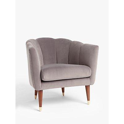 John Lewis & Partners + Swoon Enville Occasional Armchair, Vienna Grey Velvet