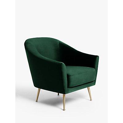 John Lewis & Partners Ellipse Velvet Armchair