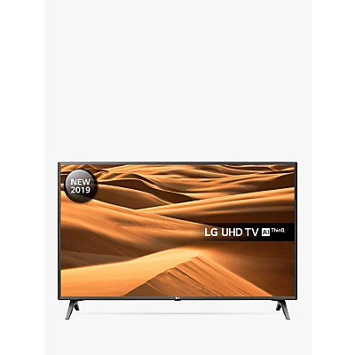 LG 43UM7500PLA (2019) LED HDR 4K Ultra HD Smart TV, 43 with Freeview Play/Freesat HD, Ultra HD Certified, Black & Titan