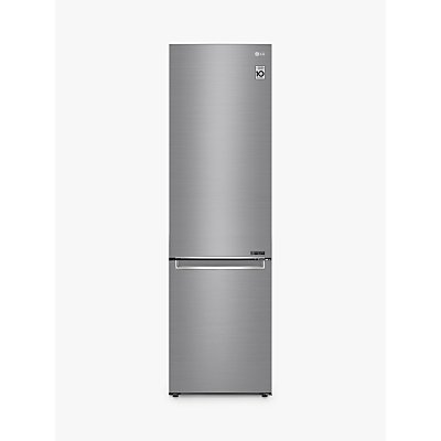 LG GBB72PZEFN Freestanding 60/40 Fridge Freezer, 60cm Wide, A+++ Energy Rating, Shiny Steel