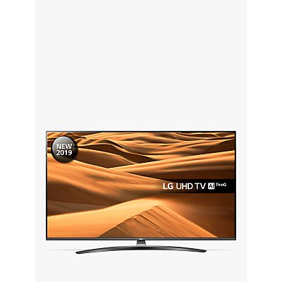 LG 65UM7660PLA (2019) LED HDR 4K Ultra HD Smart TV, 65 with Freeview Play/Freesat HD, Ultra HD Certified, Dark Silver
