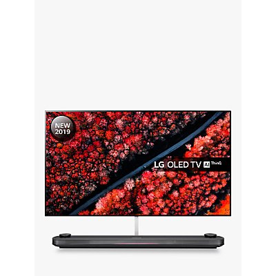 LG OLED77W9PLA (2019) SIGNATURE OLED HDR 4K Ultra HD Smart TV, 77 with Freeview Play/Freesat HD, Picture-On-Wall Design & Dolby Atmos Sound Base Unit, Ultra HD Certified, Black